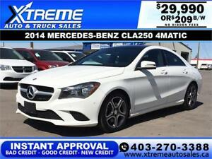 2014 MERCEDES-BENZ CLA250 4MATIC $209 B/W APPLY NOW DRIVE NOW
