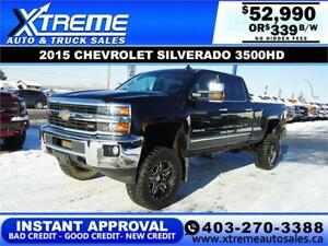 bd3ee9cc99 2015 CHEVY SILVERADO 3500HD LIFTED  INSTANT APPROVAL   339 BW!