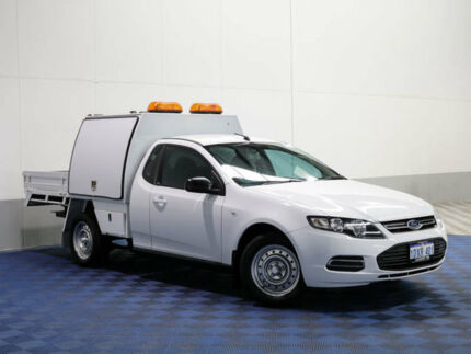 2012 Ford Falcon FG MK2 White 6 Speed Auto Seq Sportshift Cab Chassis