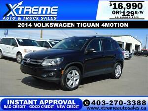 2014 VOLKSWAGEN TIGUAN 4MOTION *INSTANT APPROVAL* $129/BW!