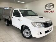 2014 Toyota Hilux KUN16R MY14 Workmate White 5 Speed Manual Cab Chassis Bungalow Cairns City Preview
