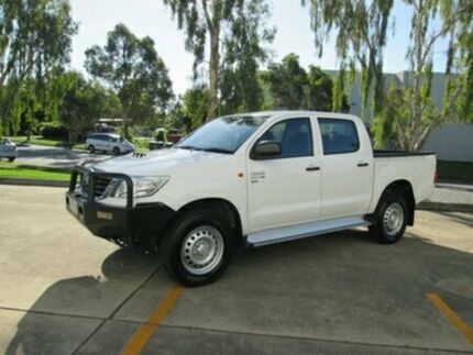 2014 Toyota Hilux KUN26R MY14 SR Double Cab White 5 Speed Automatic Utility Archerfield Brisbane South West Preview