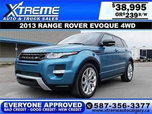2013 Range Rover Evoque 4WD $239 bIweekly APPLY NOW DRIVE NOW
