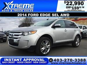 2014 Ford Edge SEL AWD $159 BI-WEEKLY APPLY NOW DRIVE NOW