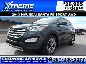 2013 Hyundai Santa Fe 2.0T Sport AWD $169 BI-WEEKLY APPLY NOW DR