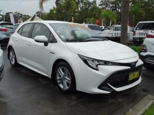 2018 Toyota Corolla ZWE211R Ascent Sport (Hybrid) White Continuous Variable Hatchback South Nowra Nowra-Bomaderry Preview
