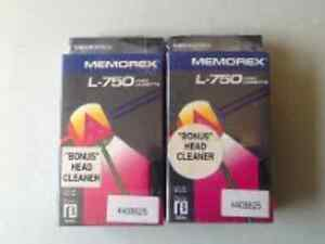 1 MEMOREX VIDEO HEAD CLEANER & 1 BETA  CASSETTE-FACTORY SEALED
