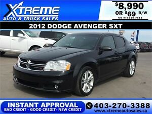 2012 Dodge Avenger SXT HEATED SEATS $69 b/w APPLY NOW DRIVE NOW