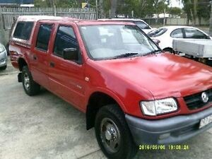 2001 Holden Rodeo TF MY01 LX Crew Cab Red Manual Utility Clontarf Redcliffe Area Preview