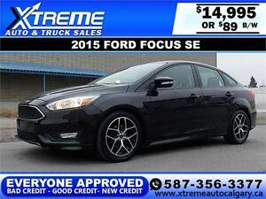 2015 Ford Focus SE $89 BI-WEEKLY APPLY NOW DRIVE NOW