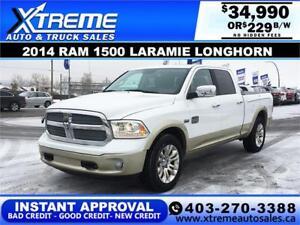 2014 RAM LARAMIE LONGHORN *INSTANT APPROVAL* $0 DOWN $229/BW!
