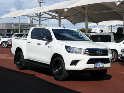 2015 Toyota Hilux GUN136R SR HI-Rider White 6 Speed Automatic Dual Cab Utility Jandakot Cockburn Area Preview