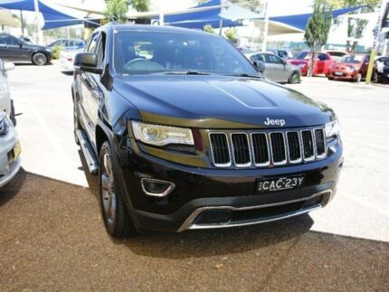 2013 Jeep Grand Cherokee WK Limited Wagon 5dr Spts Auto 8sp 4x4 3.6i [MY14] Black Sports Automatic