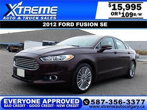 2012 Ford Fusion SE $109 bi-weekly APPLY TODAY DRIVE TODAY