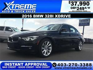 2016 BMW 328i Xdrive $246 bi-weekly APPLY NOW DRIVE NOW
