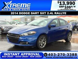 2014 DODGE DART SXT 2.4L RALLYE $109 B/W APPLY NOW DRIVE NOW