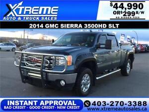 2014 GMC SIERRA 3500HD SLT *INSTANT APPROVAL* $0 DOWN $299/BW