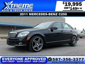 2011 Mercedes Benz AWD C250 $149 bi-weekly APPLY NOW DRIVE NOW