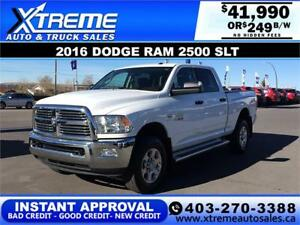 2016 DODGE RAM 2500 SLT CREW *INSTANT APPROVAL* $0 DOWN $249/BW!