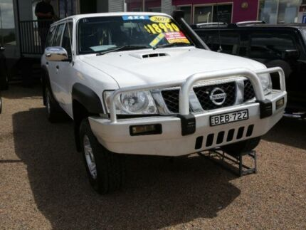 2007 Nissan Patrol GU 6 MY08 Walkabout White 5 Speed Manual Wagon Mount Druitt Blacktown Area Preview