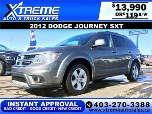 2012 Dodge Journey SXT $119 bi-weekly APPLY NOW DRIVE NOW