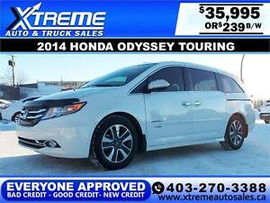2014 Honda Odyssey Touring $239 BI-WEEKLY APPLY NOW DRIVE NOW