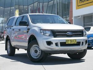 2013 Ford Ranger PX XL Double Cab Silver 6 Speed Sports Automatic Utility Pearce Woden Valley Preview