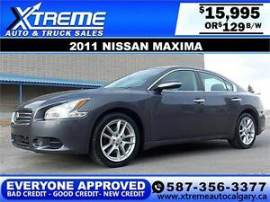 2011 Nissan Maxima S $129 BI-WEEKLY APPLY NOW DRIVE NOW