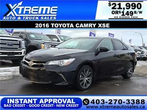 2016 TOYOTA CAMRY XSE $0 DOWN $149 B/W APPLY NOW DRIVE NOW