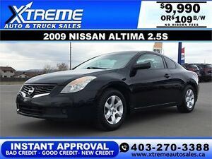 2009 Nissan Altima 2.5S Coupe $109 bi-weekly APPLY NOW DRIVE NOW