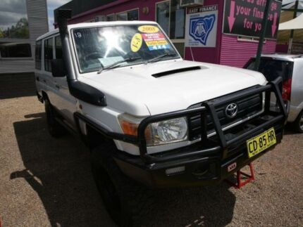 2008 Toyota Landcruiser VDJ76R Workmate White 5 Speed Manual Wagon Mount Druitt Blacktown Area Preview