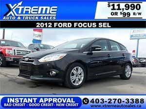2012 Ford Focus SEL $99 BI-WEEKLY APPLY TODAY DRIVE TODAY