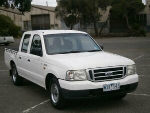 2003 Ford Courier PG GL White 5 Speed Manual Crew Cab Pickup Braybrook Maribyrnong Area Preview