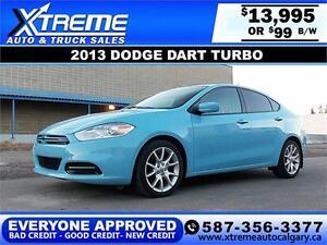 2013 Dodge Dart SXT Turbo $99 BI-WEEKLY APPLY TODAY DRIVE TODAY