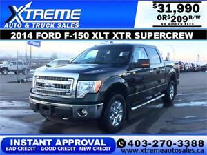 2014 FORD F-150 XLT XTR  *INSTANT APPROVAL $0 DOWN $209/BW