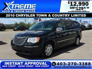 2010 CHRYSLER TOWN & COUNTRY LIMITED $129 B/W APPLY NOW