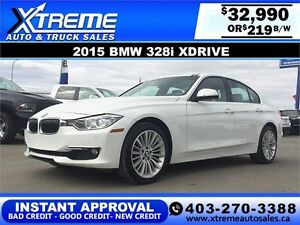 2015 BMW 328i xDrive $219 bi-weekly APPLY NOW DRIVE NOW