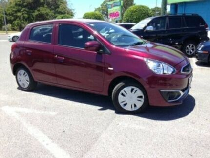 2016 Mitsubishi Mirage LA MY15 ES Maroon 1 Speed Constant Variable Hatchback
