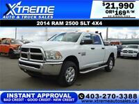 2014 RAM 2500 SLT CREW CAB *INSTANT APPROVAL $0 DOWN $169/BW! Calgary Alberta Preview