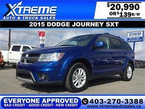 2015 Dodge Journey SXT $139 bi-weekly APPLY NOW DRIVE NOW
