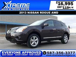 2013 Nissan Rogue S AWD $119 BI-WEEKLY APPLY NOW DRIVE NOW