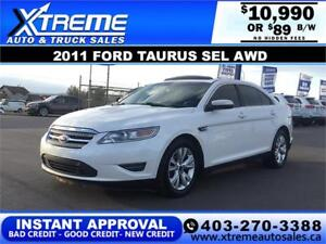 2011 FORD TAURUS SEL AWD $139 B/W APPLY NOW DRIVE NOW
