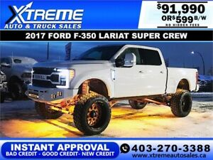 2017 FORD F-350 LARIAT LIFTED *INSTANT APPROVAL* $0 DOWN $599/BW