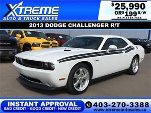 2013 DODGE CHALLENGER R/T $199 BI-WEEKLY *$0 DOWN APPLY NOW