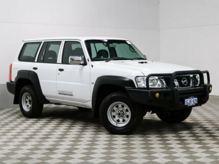 2012 Nissan Patrol GU Viii DX (4x4) White 5 Speed Manual Wagon
