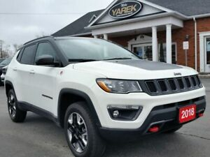 2018 Jeep Compass Trailhawk 4x4, Pano Roof, NAV, Leather Heated