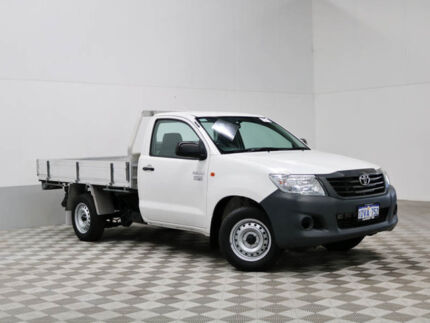 2011 Toyota Hilux TGN16R MY12 Workmate White 5 Speed Manual Cab Chassis
