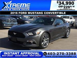 2016 FORD MUSTANG PREMIUM CONVERTIBLE $229 B/W *INSTANT APPROVAL