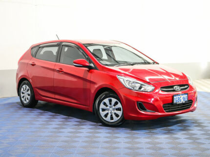 2016 Hyundai Accent RB4 MY16 Active Red 6 Speed CVT Auto Sequential Hatchback
