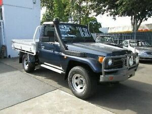 1996 Toyota Landcruiser HZJ75RP Blue 5 Speed Manual Cab Chassis Coopers Plains Brisbane South West Preview